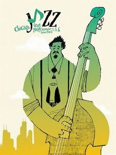2009 Chicago Jazz Fest Poster by Spike Press. 2009 Chicago Jazz Fest Poster by Spike Press. Jazz Festival, Festival Posters, Concert Posters, Music Posters, Jazz Artists, Jazz Musicians, Saul Bass, Poster Jazz, Arte Jazz