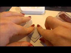 [Scrap] n°15: L'Embossage à chaud.......avec des encres à séchage rapide - YouTube