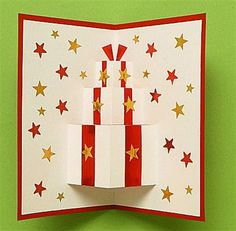 pop up card christmas present 1