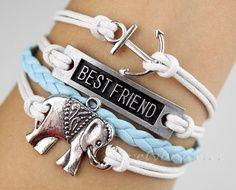 an anchor a best friend bracelet elephants by lovelybracelet 4 99 2