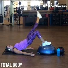 """""""I have a love/hate relationship with the BOSU ball! It is one of the best pieces of equipment for total body, try these 4x15. @Fithealthyworkouts"""""""