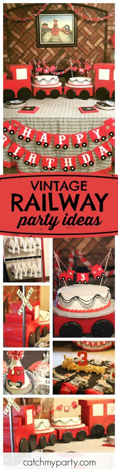 All Aboard This Adorable Grandson And Granddad Vintage Railway Birthday Party Love The Train Cake