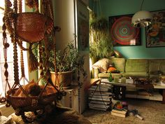 Bohemian Gypsy Room And Cat Room Boho Green Colourful Bohemian Interior Gypsy Bohemian House, Bohemian Interior, Bohemian Decor, Bohemian Living, Boho Chic, Style Joanna Gaines, Interior Bohemio, Hippie Living Room, Hippie Bedrooms