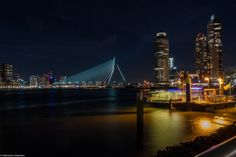 Rotterdam, Erasmusbridge by night. A great city! (LUMIX GF1)