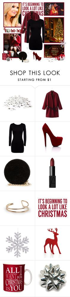 """Merry Christmas!"" by ines-nokinhas ❤ liked on Polyvore featuring MANGO, NARS Cosmetics, Sixtrees and Christmas"