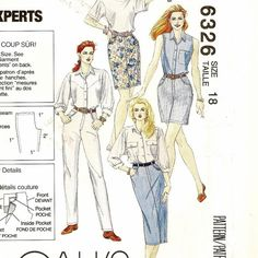 """A Palmer/Pletsch Fit Expert Straight Skirt, Jeans, Pants & Shorts """"Five Hour Jeans That Fit"""" Pattern for Women"""