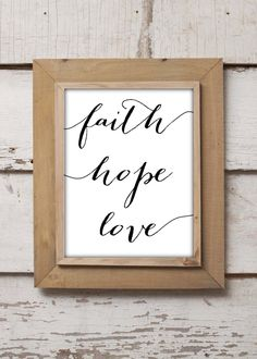 Instant Download Faith Hope Love with Eclectic Bombshell Font Calligraphy Elegant White and Black Print Faith Hope And Love Bible Verse by PerfectedbyGrace on Etsy