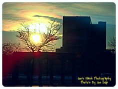 The Evening Sunset over the City Of Belleville Ontario