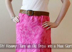 DIY Revamp: How to Turn an Old Dress into a Maxi Skirt.