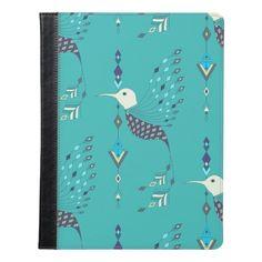 Vintage ethnic tribal aztec bird iPad case