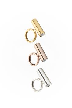 TITA message ring | Sterling silver | gold and rose gold plated | EMPATIA CERO Collection | JACOBO TOLEDO