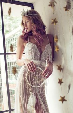 The Meital Zano Hareli Gyspy Soul Bridal Collection is a beautiful collection of gowns with a dreamy boho, vibe. Boho Wedding, Wedding Bride, Wedding 2015, Wedding Dress Suit, Pnina Tornai, Mannequins, Designer Wedding Dresses, Dream Dress, Bridal Collection