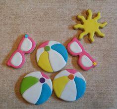 Beach themed cookies