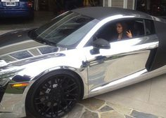 Kim Kardashian in Scott Diskick's Chrome Audi R8