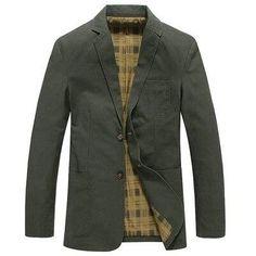 ZDLilian Mens Jacket Winter Cotton Lapel Cardigan Warm Jacket Mens Coat