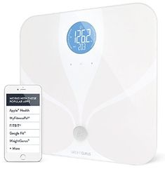 Wifi Smart Connected Body Fat Bathroom Scale by Weight Gurus Backlit LCD ITO Conductive Surface Technology Accurate Precision Health Alerts Measurements and Monitoring *** undefined Best Smart Scale, Anytime Fitness Gym, Best Bathroom Scale, Bathroom Scales, Fitbit, Body Weight Scale, Apple Health, Workout Pictures