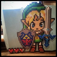 LoZ Link perler beads by tracymae2