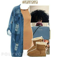 Featuring casetify, michael michael kors, chicnova fashion and ugg australia Swag Outfits For Girls, Cute Swag Outfits, Dope Outfits, Teen Fashion Outfits, Stylish Outfits, Fall Outfits, Summer Outfits, Ugg Australia, Australia Winter