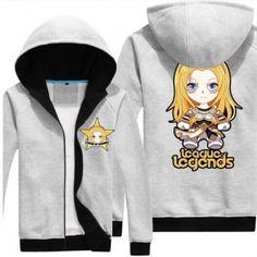 League of Legends mens hoodie Lux plus size zip sweatshirt