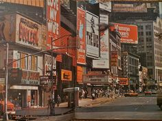 Times Square. Turns out they didn't invent the color blue until 1981.