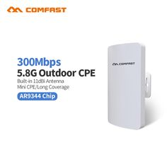 2pc Mini Comfast CF-E120A 5G Wireless Outdoor CPE WIFI Router 300Mbps Wireless Access Point CPE Router POE WIFI Bridge to point