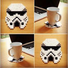 Stormtrooper - Star Wars coaster perler beads