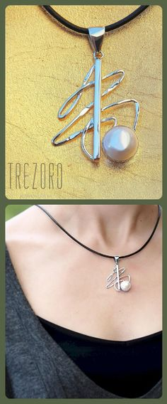 Sterling Silver and Natural Pearl Necklace