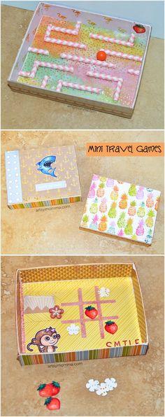 DIY Mini Travel Game Box for Kids