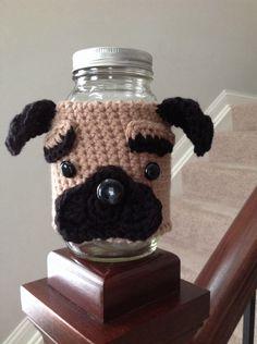 A personal favorite from my Etsy shop https://www.etsy.com/listing/224642589/pug-dog-treat-jar-handmade-dog-treat-jar