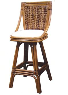Tropical Cove Rattan Bar Stools and Counterstools from Summit Design   Antique Wicker Dining Furniture   americanrattan.com