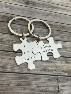 I am weird I love weird, Couples Keychains, Couples Gift Ideas, Christmas Gift