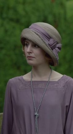 Downton Abbey, Lady Edith attends Baby Sibbie's christening