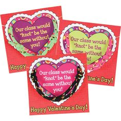 A simple and sweet way to celebrate friendship this Valentine's Day    Valentines Day Friendship Card And Bracelet