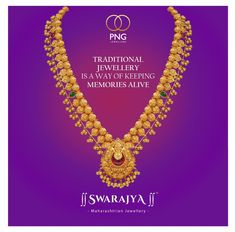 Traditional Jewellery is the best way to keep memories alive! Stepin to your nearest PNG Jewellers store and make your choice from the widest range of traditional Maharashtrian Jewellery! Gold Bangles Design, Gold Earrings Designs, Gold Jewellery Design, Gold Designs, Gold Necklace Simple, Gold Jewelry Simple, Silver Jewelry, Maharashtrian Jewellery, Tanishq Jewellery