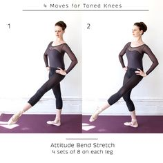Attitude bend stretch 4 sets of 8 on each leg