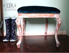 Banqueta estilo Chippendale, restaurado por SOPA, Muebles y Objetos Old School