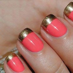 Coral and Gold make a gorgeous combo!