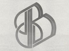 Dribbble - Typographic Experiment - B by Queen City Studio