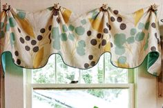 Mims Valance Sewing Pattern- This simple but sophisticated curtain valance can be adapted to fit various window widths. We like to use a contrasting fabric for the lining making the valance reversible. We recommend using our decorative knobs with pos Unique Window Treatments, Valance Window Treatments, Window Coverings, Valance Patterns, Sewing Patterns, Valance Ideas, Curtain Ideas, Drapes Curtains, Curtain Panels