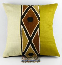 African Bogolan Pillow