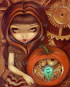A Clockwork Pumpkin by jasminetoad.deviantart.com on @deviantART