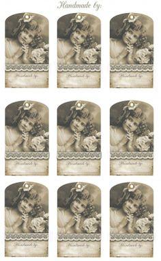 Sheet kaartjes handmade | Teksten & Spreuken | Nostalgie & Brocante Vintage Tags, Images Vintage, Vintage Artwork, Vintage Ephemera, Vintage Pictures, Vintage Paper, Printable Labels, Free Printables, Etiquette Vintage