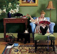 LEYENDO. Kay Ritter, pintora contemporánea estadounidénse.