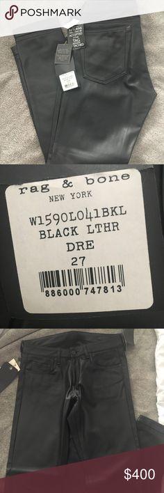 Brand new Rag and Bone Dre boyfriend leather pants Brand new Rag and Bone Dre boyfriend leather pants rag & bone Pants