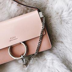 Pink Chloé Faye. We need this bag.