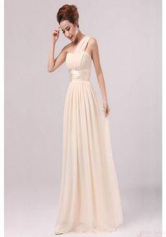 2016 Prom Dresses-Hot Sale Elegant Chiffon One Shoulder Floor Length Party Evening Dresses Bridesmaid Dresses