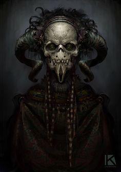 aztec theme demon speedpaint, Kostya P!ngWIN Chernianu on ArtStation at https://www.artstation.com/artwork/oKrvm