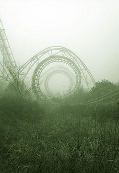 crazy abandoned roller coaster