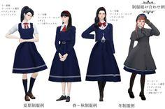 Girl School Uniform Saifuku Set for The Sims 4