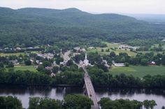 Sunderland, MA, with Connecticut River in the foreground, from Mount Sugarloaf, Deerfield, MA